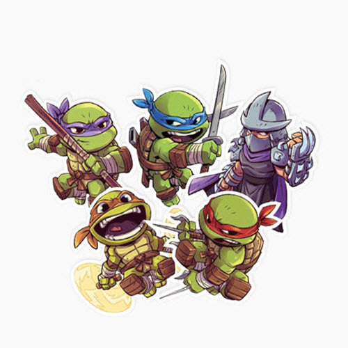 5 x Ninja Turtles Vinyl Sticker Pack