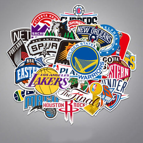 34 x NBA Teams Vinyl Sticker Pack