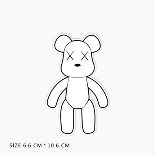 Gloomy Momo Bear White Vinyl Sticker Decal