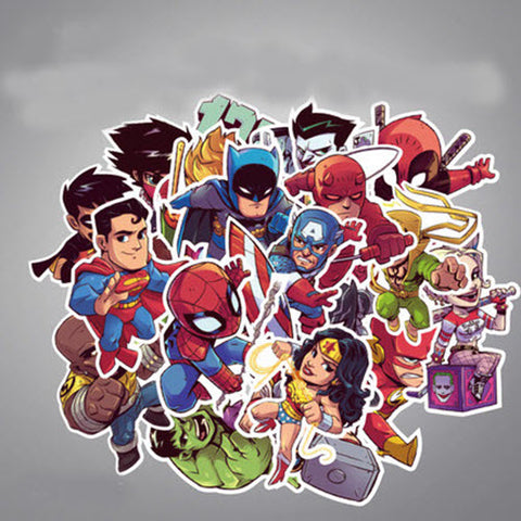 26 x DC Comic Superheroes Vinyl Sticker Pack