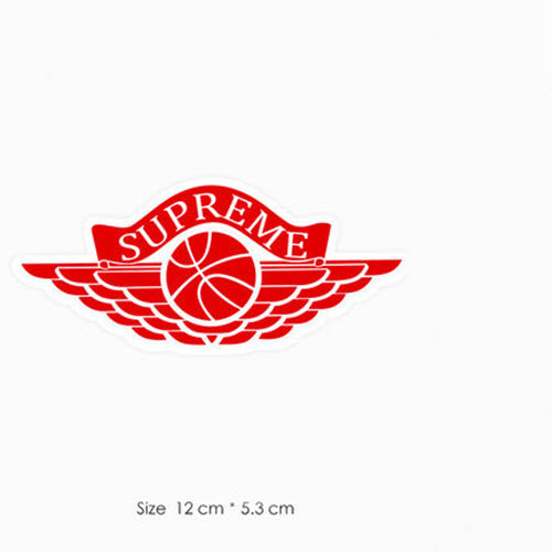 Supreme Air Force Logo Red Vinyl Sticker Decal