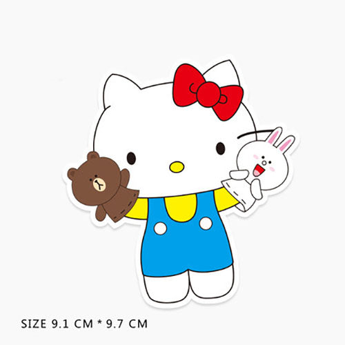 Hello Kitty x Line Friends Vinyl Sticker Decal