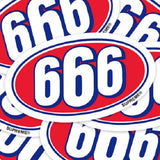 Supreme 666 Vinyl Sticker Decal