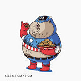 Funny Fat Captain America Vinyl Sticker Decal
