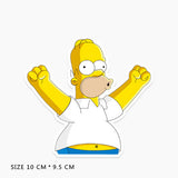 Homer Simpson Blowing Vinyl Sticker Decal