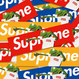 3 x Supreme Kermit The Frog Box Logo Vinyl Sticker Pack