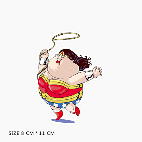 Funny Fat Wonder Woman Vinyl Sticker Decal
