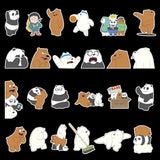 32 x We Bare Bear Set Vinyl Sticker Pack