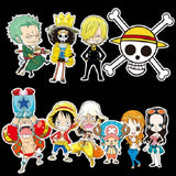 10 x One Piece Vinyl Sticker Pack