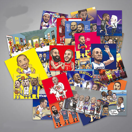 36 x NBA Stars Vinyl Sticker Pack