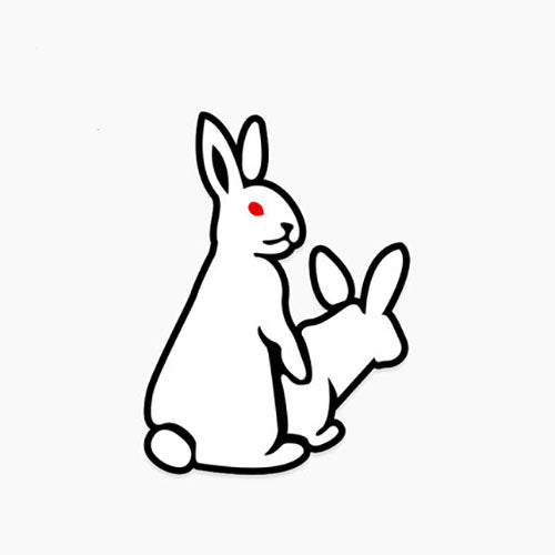 Fxxking Rabbits #FR2 Vinyl Sticker Decal