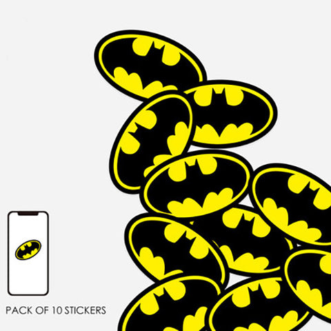 10 x Batman Logo Mini Sticker Pack