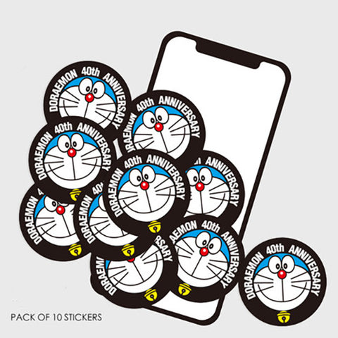 10 x Doraemon 40th Anniversary Mini Sticker Pack