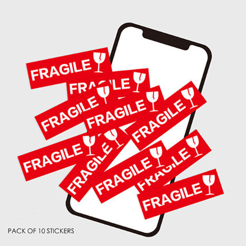 10 x Fragile Mini Sticker Pack