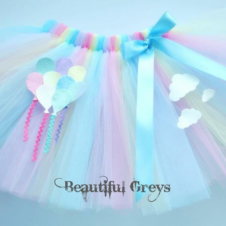 Rainbows & Balloons Tutu