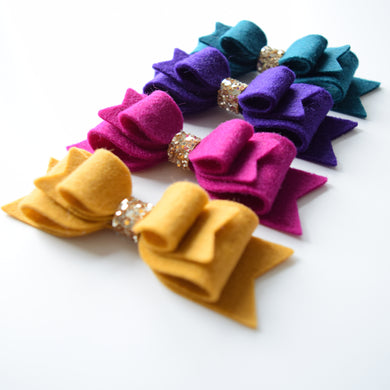 Jewel Double Felt Bows