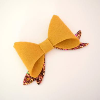 Mustard and Autumn Jewel Bow