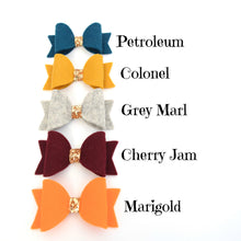 Mini Felt Bows - Darks