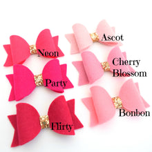 Mini Felt Bows - Pinks