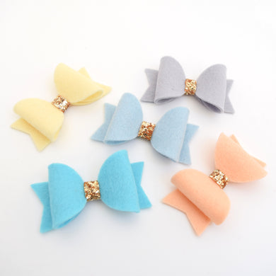 Mini Felt Bows - Pastels