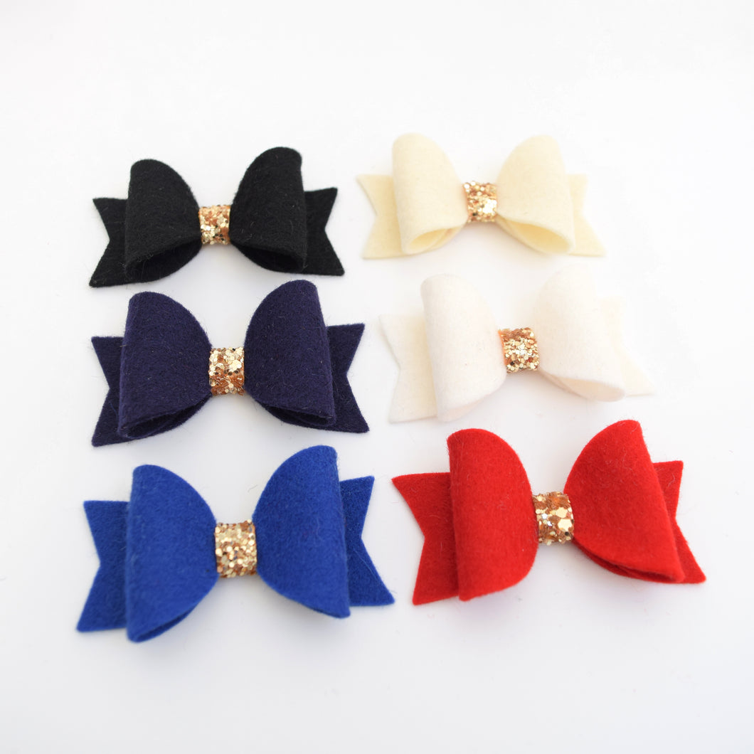 Mini Felt Bows - Faves