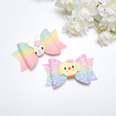 Mini Rainbow Easter Bow