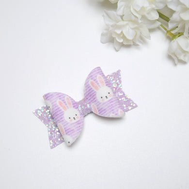 Mini Lilac Bunny Bow