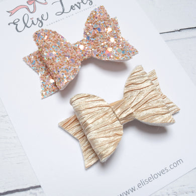 Set of Champagne Bows