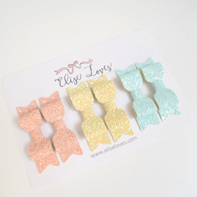 Pastel Piggy Bow Set