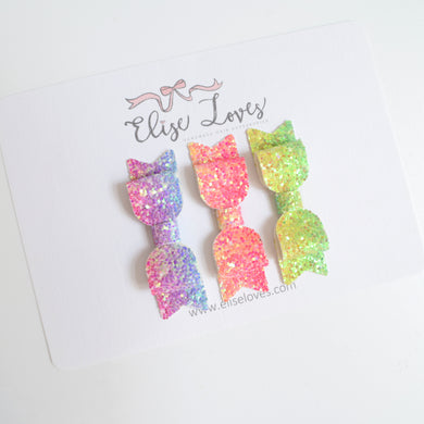 Tropical Glitter Bow Set