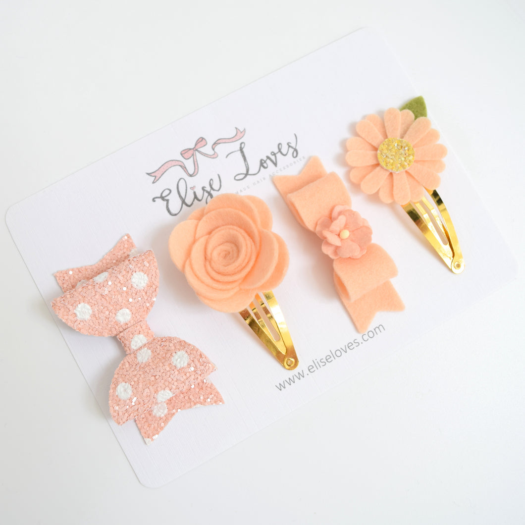 Just Peachy Clip Set