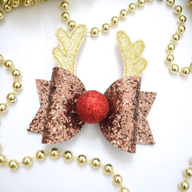 Medium Antler Glitter Bow
