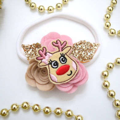 Rudolph Felt Flower Crown