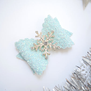 Medium Snowflake Bow Blue