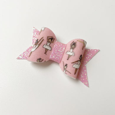 Mini Ballerina Print Bow