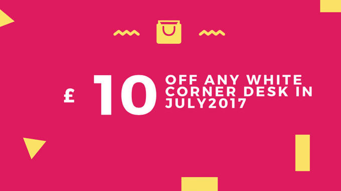 Coupon Code for July 2017 - £10 Off Any White Corner Desk