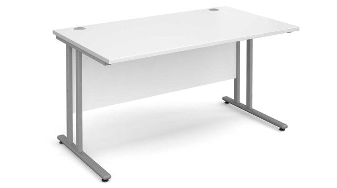White Desk with Metal Legs Now in Stock at Discount Prices