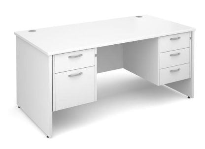 Shop for a white desk with drawers on both sides at low prices