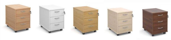 Click to buy 3 drawer mobile under desk pedestals now