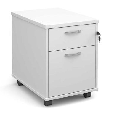 White mobile pedestals - click here to buy now at a discount price