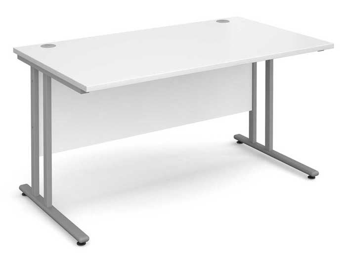 Click for white desks with silver legs on sale now