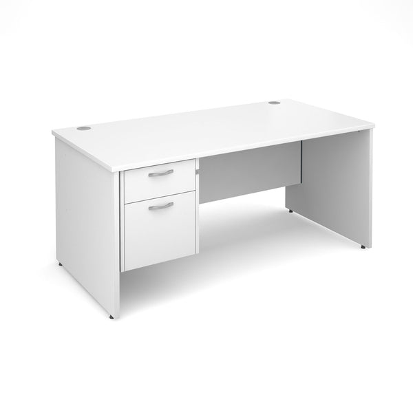 White office desk with drawers - buy now cheap