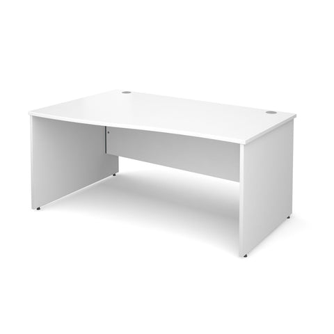 Maestro 25 PL Wave / Curved Desk (White)
