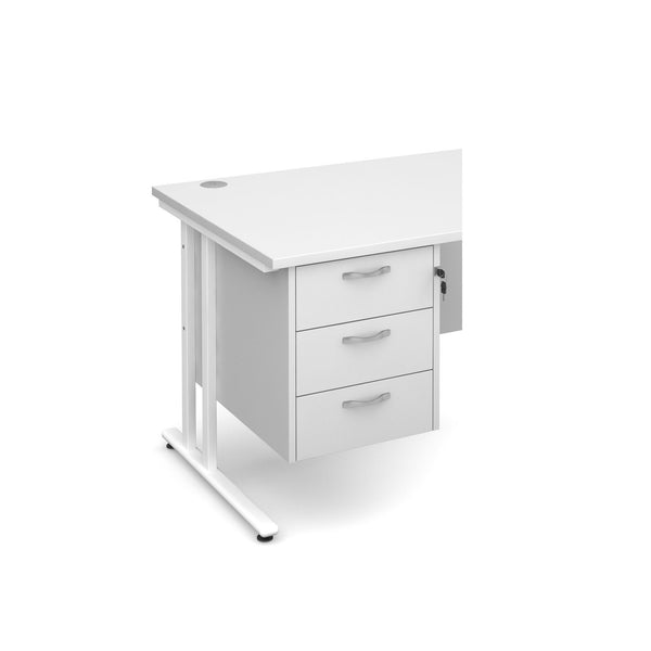 Fixed Maestro pedestal from Dams with 3 drawers in the colour white