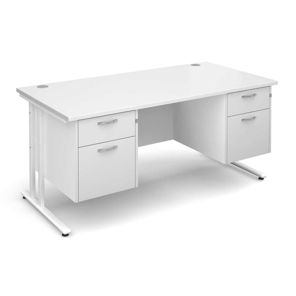 Buy a cheap white long office desk