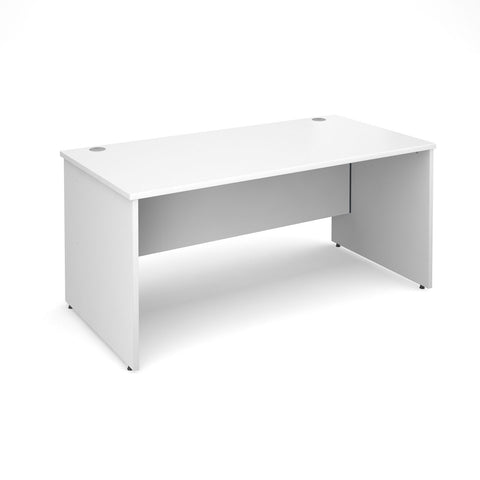 Maestro 25 PL Straight Office Desk (White)