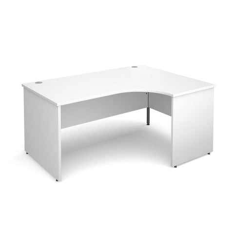 Maestro 25 PL Ergonomic Office Corner Desk (White)