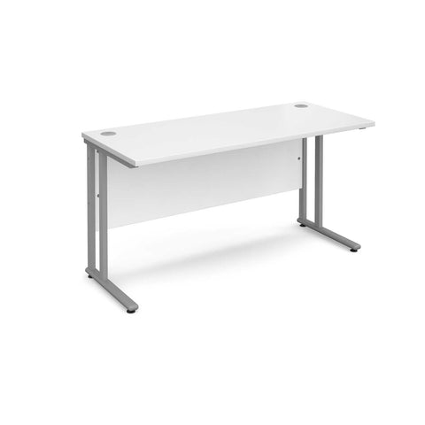 Maestro 25 Cantilever Leg SL Straight Desk 600mm Deep (White)