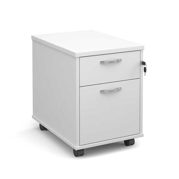 Maestro 2 Drawer Mobile Pedestal (White)