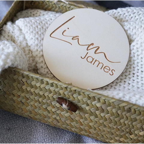 Circle Personalised Name Plaques